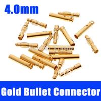 10sets 4.0mm 4mm Gold Bullet Connector for RC battery ESC Motor CN Post