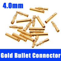 10sets 4.0mm 4mm Gold Bullet Connector for RC battery ESC Motor CN Post