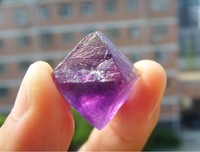 10pcs/ lot Natural Fluorite Crystal Octahedrons Rock Specimen China