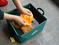 Free shipping outdoor products 15L square folding portable basins KC201