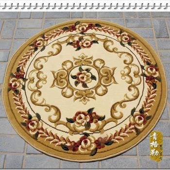 Bedroom 1255w circle flower carpet chair pad beautiful pattern diameter 1 meters  wholesale