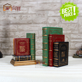Derlook the new house resin book decorations office desk decoration bookshelf bookend accessories