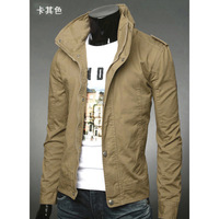 Autumn and winter jacket male slim men's clothing casual outerwear male jacket 2013 trend