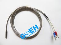 Temperature instrument thermocouple sensor probe tube & wire construction 4.6x25.4mm 2M SSOB lead cable