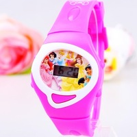 Cute Rose Pink Fashion Electronic Princess Watch Child Kids Girls Student Table Clock Digital Wristwatches Hours High Quality