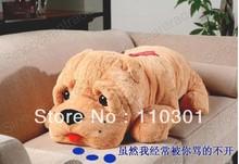 """OLHOS 3,3 PÉS GRANDES cão de Shar Pei AMOR LAÇO GIGANTE PLUSH 40 """"Stuffed Plush Toy Boneca(China (Mainland))"""