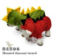 Free Shipping! Dinosaur cosplay dog cat coat Autumn and winter pet clothes poodle bichon frise other dogs' cosplay coat Morph