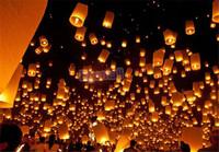 10PCS Chineses Lantern Kongming Lantern Sky Lantern Flying Wishing Lamp Party Paper Candle Lights Flame