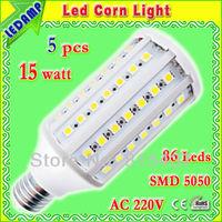 led bulb e27 15w smd5050 1500 lm corn bulb lamp _ 86 epistar leds ampoules led warm / white ac 220v free shipping