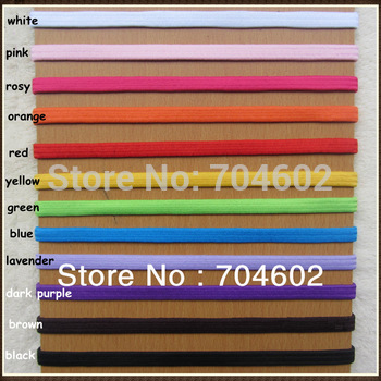 16 Colors width 0.5cm Thin Skinny Elastic Headband Fashion Goody Hair Accessories 300pcs/lot Free shipping H021