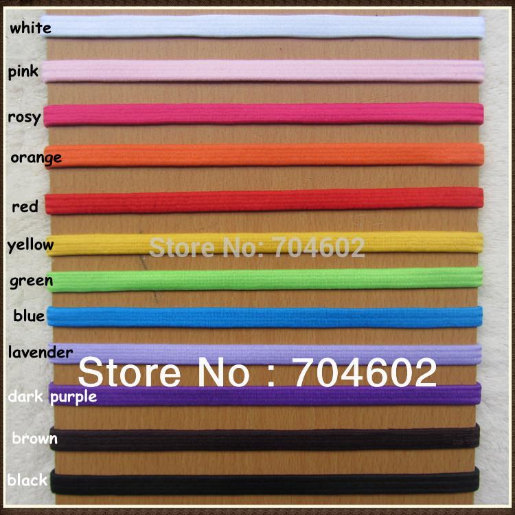 16 Colors width 0.5cm Thin Skinny Elastic Headband Fashion Goody Hair Accessories 300pcs/lot Free shipping H021(China (Mainland))
