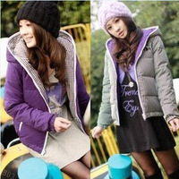 2013 New Korean Women Coat thicker Sided wear jacket coat