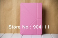 Free shipping, Transformer leather case smart cover for Ipad mini, touch pen gift, 6 colors option