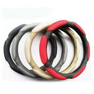 Soft Nylon Combo Steering Cover handlebar Black Grey Red Beige Anti-Slip For Honda/Toyota/Nissan/Ford Auto Steering Wheel ,CW001