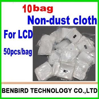 10 bags Mobile phone LCD LED Repair clean cloth separating machine vacuum packing anti-static microfiber dusting B4090