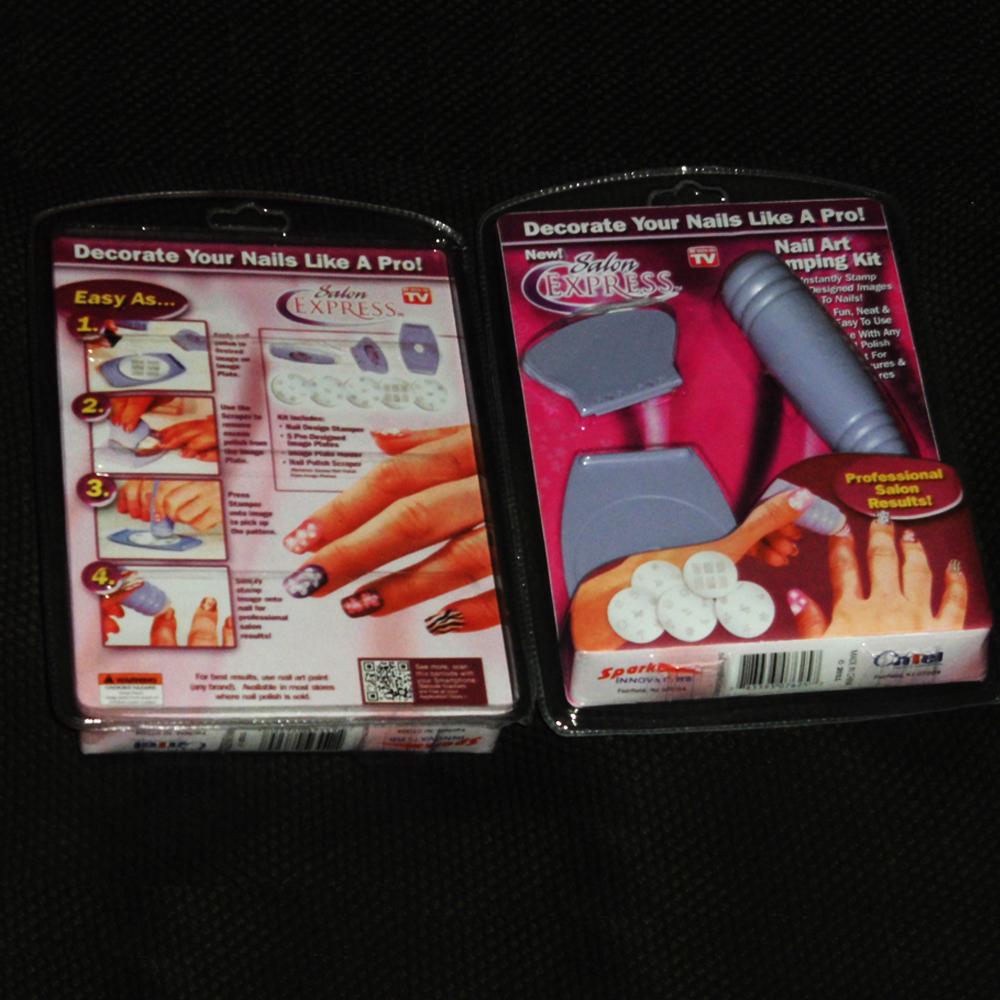 Wholesale Salon Express Nail Art Stamping Kit As Seen On TV DIY design Nail Polish Product Professtional Nail Decoration Tool(China (Mainland))