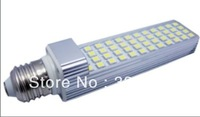 10W LED 24  Whole sale G24/E27 base Rotatable  48pcs High lumens SMD5050 Epistar  Leds LED PL Lampen 10W  Bombillas G24