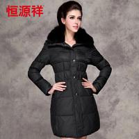 Winter 2013 women's fox fur short design down coat plus size thickening thermal outerwear