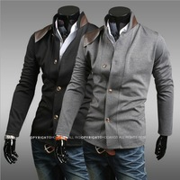 2013 leather stick jacket for men Hitz pocket design personalized clothing on sale 122053