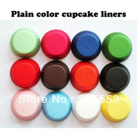 Fres shipping 1000pcs assorted solid color standard size cupcake liners baking paper cups muffin cases decorations