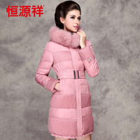 New  2013 women's medium-long ultralarge thickening fox fur fashionable casual winter outerwear