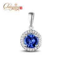 Stunning 14k White Gold 1.42ct Blue Tanzanite Diamond Sweet Pendant