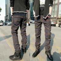 K6620 plaid 2012 popular plaid pants british style trousers f78
