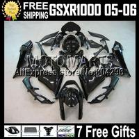 100% Q41 For K5 SUZUKI GSX-R1000 GSXR1000 GSX R1000 05 06 ALL Black 2005 2006 559 GSX-R1000 gloss black GSXR 1000 K5 Fairings
