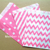 "Pink Colors Mix  party favor Bags  5""x7"" (12.7cm x 17.7cm) Party Supplies Candy Paper Goods Bag 1500pcs"