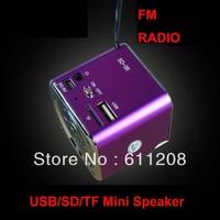Low Price Portable Stereo Digital Mini Speaker For MP3 Player USB Disk Micro SD TF Card FM Radio
