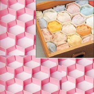 Gaveta do favo de mel do favo de mel diaphragn diy plástico caixa de armazenamento de underwear calcinha acabamento treliça(China (Mainland))