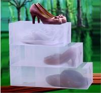 FreeShipping 20 Pieces / lot Clear Plastic Shoe Storage Transparent Boxes,Shoes Storage Box,Debris Storage Box,Clamshell Shoebox