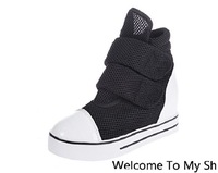 Free shipping new fashion women's shoes high-top canvas shoes breathable mesh casual shoes platform shoes muffin