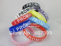 I Promise Wristband, Printed bracelet, 9colours, 100pcs/lot, free shipping