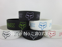 FOX wristband, silicon bracelet, promotion gift, 202x25x2mm, 6colours, 50pcs/lot, free shipping