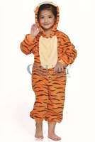 Unisex Children's Costumes Kids Kigurumi Cosplay Onesies Animal Pajamas Christmas Gift Cute Jumping Tiger Cartoon Animal Pyjamas