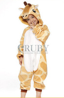 Unisex Children's Costumes Kids Kigurumi Cosplay Onesies Animal Pajamas Christmas Gift Child Cute Giraffe Cartoon Animal Pyjamas