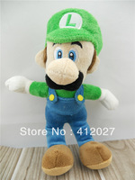 Official Nintendo Super Mario Bros LUIGI Soft Plush Figure Doll Toy 8""
