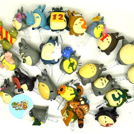 10pcs/ lot Totoro figures three options , totoro decoration, totoro dust plug and totoro pandent mixed designs(China (Mainland))