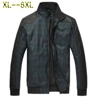Free shipping plus size XXL XXXL 4XL 5XL 6XL 7XL 8XL spring stand collar slim jacket men's clothing outerwear  brand jackets