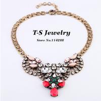 Pendant Necklace Real Trendy Women Link Chain Necklace New Rhinestone Choker Pendants Chunky Statement Fashion Free Shipping