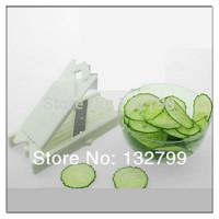 0.7mm Food Facial Beauty Cabbage Cucumber Potato Steel Slicer Peeler Cutter Tool w/ Mirror
