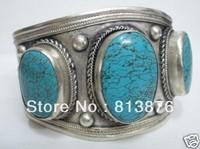 tibet Turquoise bracelet cuff Free shipping