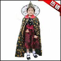 Halloween clothes child set mantissas series hat gold