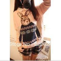 New Fashion Women Tops 2013 Style Womens Hight Quality Mr. Peter rabbit jacquard sweaters