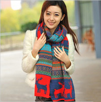 Elizabethans winter double faced onta pattern yarn scarf cape dual-use ultra long yarn