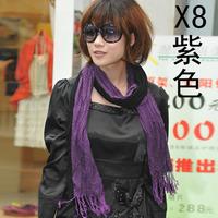 2014 women's lengthen scarf dark gray lengthen thermal fluid sunscreen cape