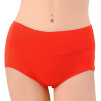 wholesale 10pcs/lot Bamboo fibre in high Petit's panty female solid color 100% cotton modal panties plus size trigonometric