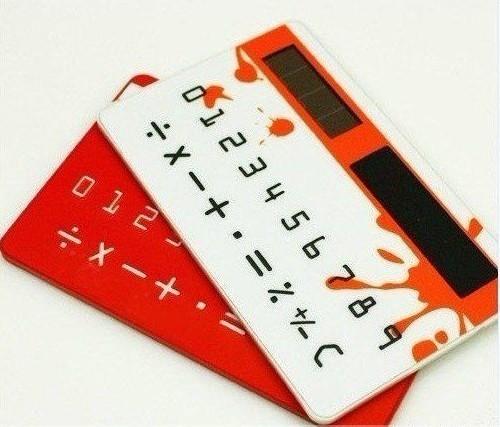Free shipping Portable card calculator solar calculator card calculator wallet calculator(China (Mainland))