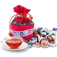 On Sale!!! 50 Kinds Flavor Pu er, Pu'erh tea, Mini Yunnan Puer tea ,Chinese tea, With Gift Bag+gift+ Free Shipping